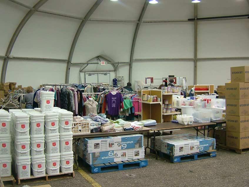 Hurricane Katerina Salvation Army Distribution center