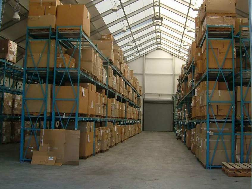 Warehousing fabric structure