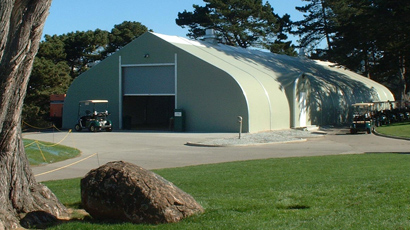 Harding Park Golf Club Sprung Structure cart barn