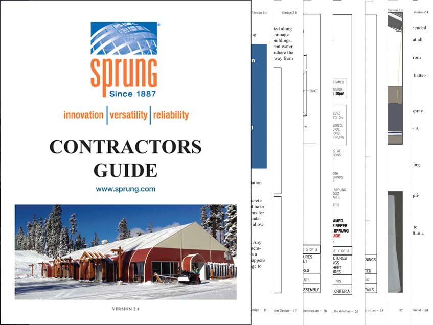 Contractors Guide for a Sprung Structure