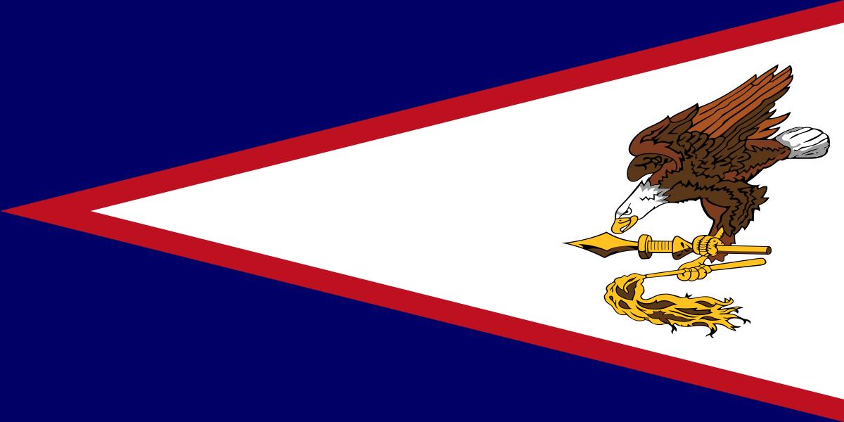 Flag of American Samoa Island