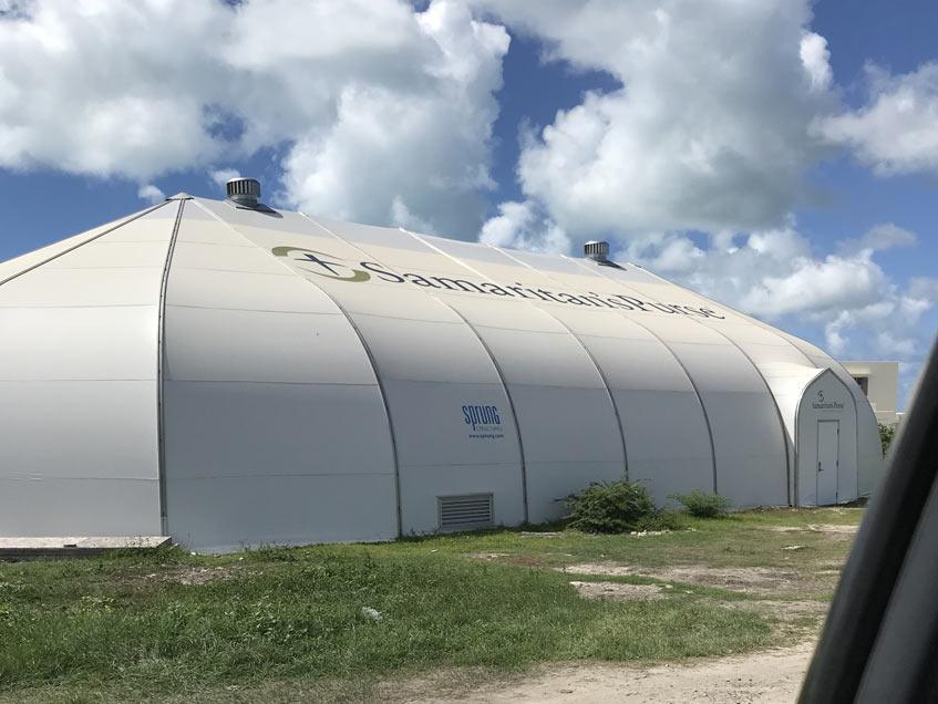 Barbuda Antigua Island Code: 163 mph as per IBC 2012 Samaritan's Purse Logistics Center