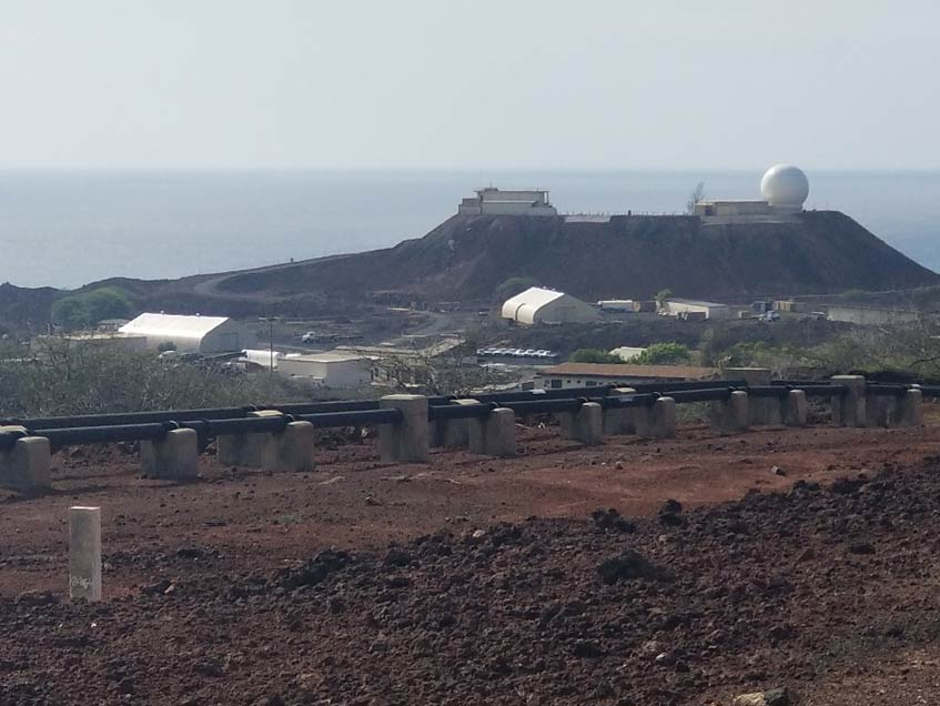 Sprung Structures on Ascension Island. The island is extremely remote with steady heavy winds and hosts a very caustic environment.