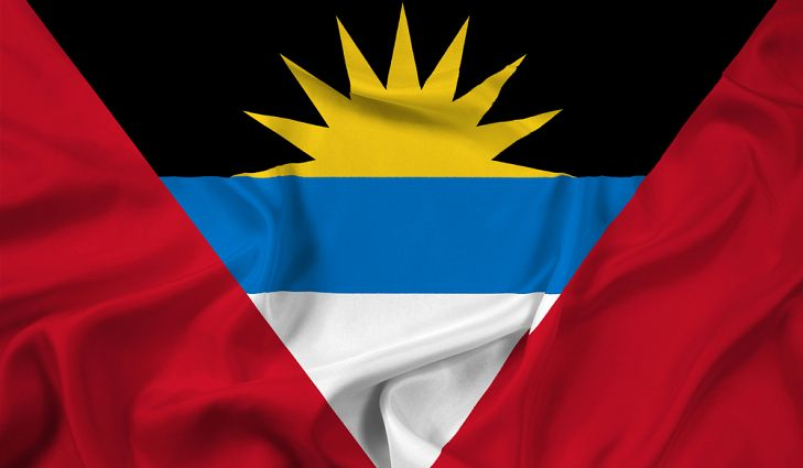 Barbuda Antigua Island Flag