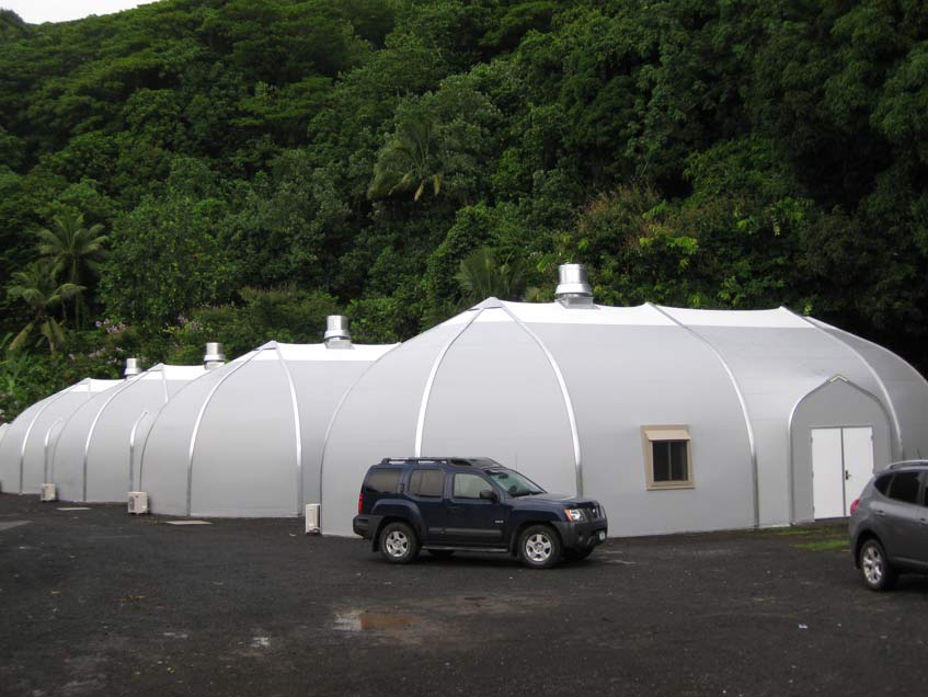 Sprung Structures 125 mph wind loading as per IBC 2006 American Samoa Education