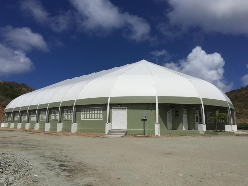 Sprung Gymnasium Island of Montserrat Sprung Structures