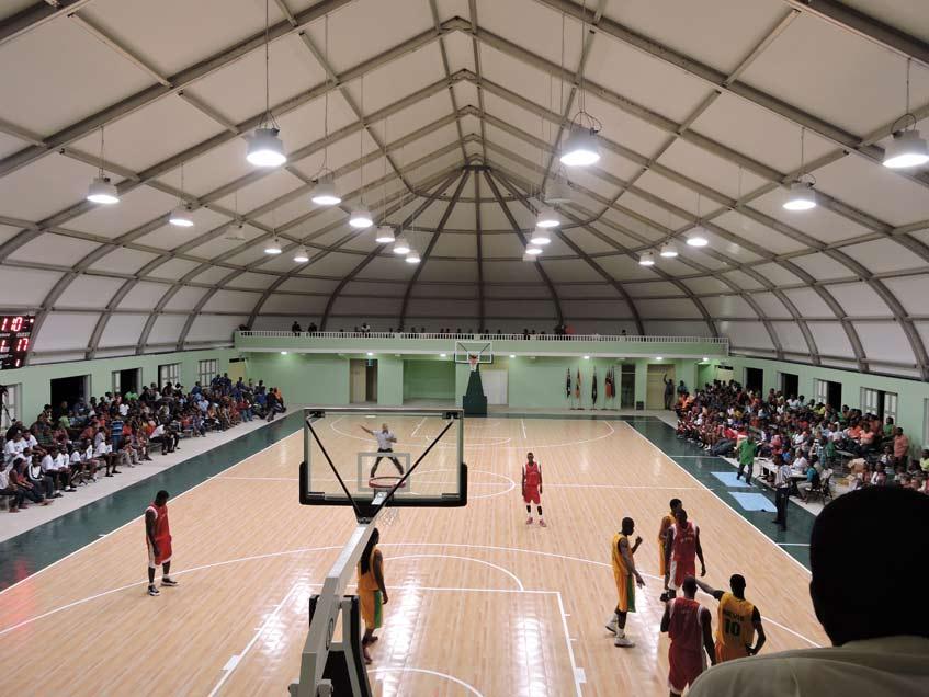 Sprung Gymnasium Island of Montserrat