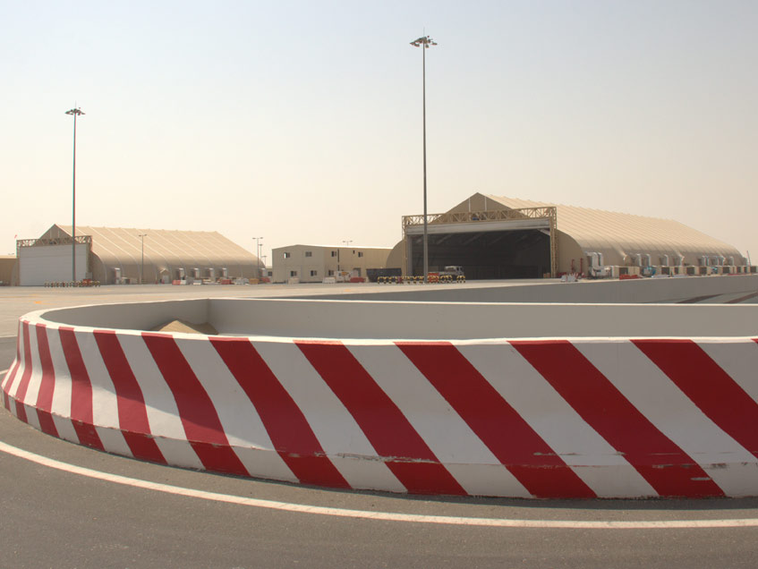 Helicopter Hangars Al Maktoum International Airport Dubai World Central Sprung Hangar