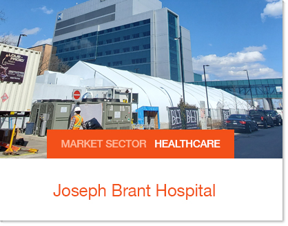 Field Hosptial at Joseph Brant Hospital