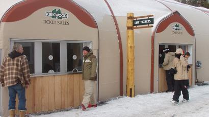 Sprung portable structure Kirkwood Ski Resort