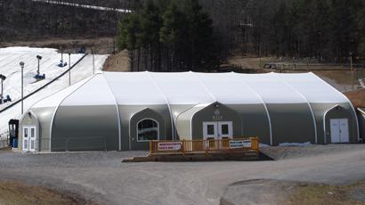Sprung fabric building Tubing on ski resort