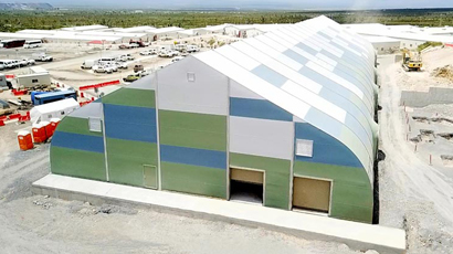 Sprung fabric structure