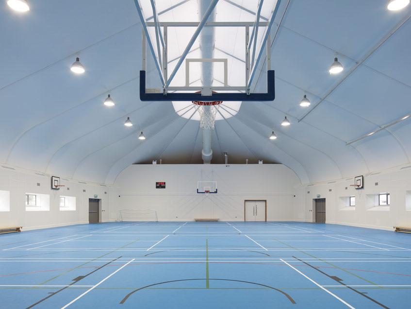 Sprung prefab buildings gymnasiumstructure