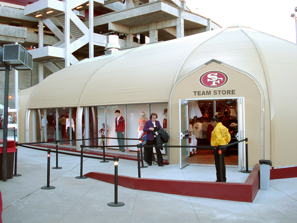 size 40 d6dd3 05366 San Francisco 49ers Team Store Expansion - Sprung Structures