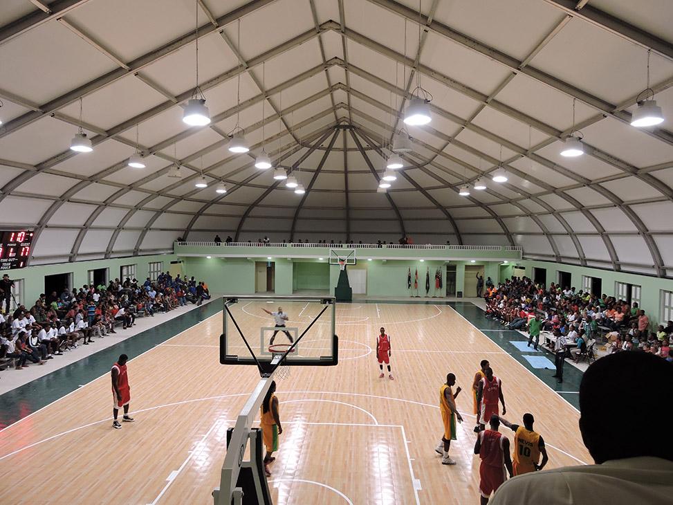 Montserrat Sports Arena Sprung Structures