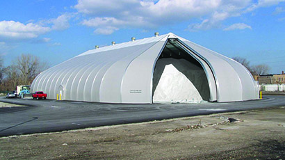 Sprung Fabric Building Salt Storage Solutions